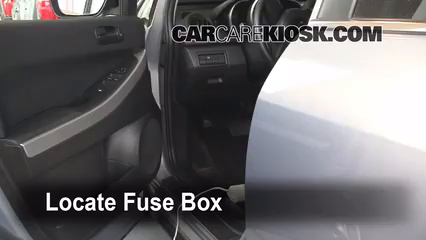interior fuse box location 2007 2012 mazda cx 7 2008 mazda cx 7 sport 2 3l 4 cyl turbo