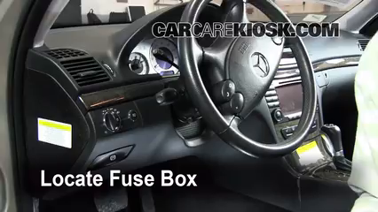 mercedes benz e interior fuse check mercedes locate interior fuse box and remove cover