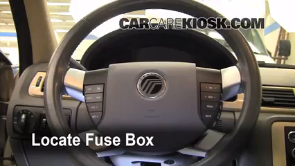 interior fuse box location 2008 2009 ford taurus 2008. Black Bedroom Furniture Sets. Home Design Ideas