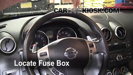 interior fuse box location: 2008-2013 nissan rogue - 2008 ... fuse box for nissan rogue fuse box for 1996 nissan altima