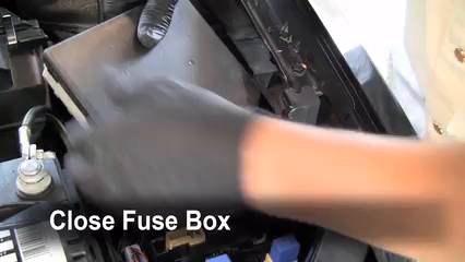 replace a fuse nissan sentra nissan sentra s  6 replace cover secure the cover and test component