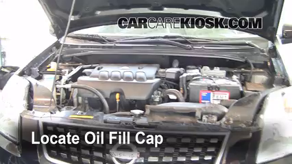 How to Add Oil Nissan Sentra 20072012  2008 Nissan Sentra S