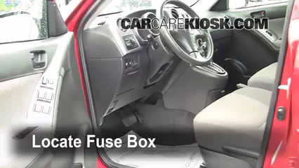 interior fuse box location pontiac vibe pontiac locate interior fuse box and remove cover