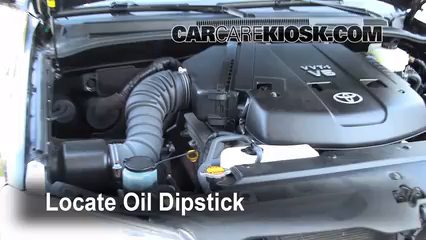 2007 Toyota Tundra How To Remove Dipstick From A Oil Pan