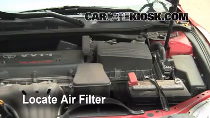 air filter how to 2007 2011 toyota camry 2008 toyota camry le 2 4l 4 cyl. Black Bedroom Furniture Sets. Home Design Ideas