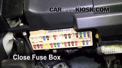 interior fuse box location toyota highlander  interior fuse box location 2008 2013 toyota highlander 2008 toyota highlander sport 3 5l v6
