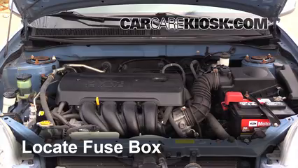 blown fuse check pontiac vibe pontiac vibe l  locate engine fuse box and remove cover
