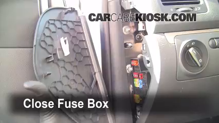 Interior Fuse Box Location: 2006-2009 Volkswagen Rabbit - 2008 ...