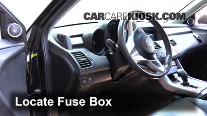 interior fuse box location 2007 2012 acura rdx 2008. Black Bedroom Furniture Sets. Home Design Ideas