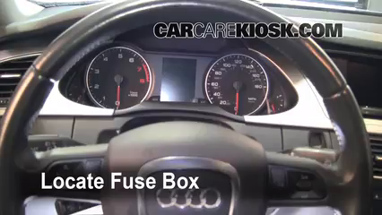 interior fuse box location 2009 2016 audi a4 quattro. Black Bedroom Furniture Sets. Home Design Ideas