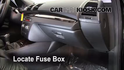interior fuse box location 2008 2014 bmw 135i 2009 bmw. Black Bedroom Furniture Sets. Home Design Ideas