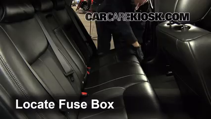 interior fuse box location   cadillac dts