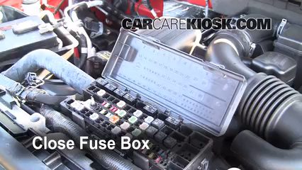 replace a fuse 2009 2014 ford f 150 2009 ford f 150 xlt 5 4l v8 2009 F150 Fuse Box Location 6 replace cover secure the cover and test component 2009 f150 fuse box location