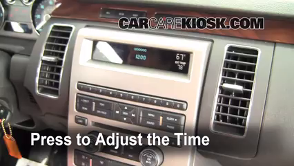 how to set the clock on a ford flex 2009 2013 2009. Black Bedroom Furniture Sets. Home Design Ideas