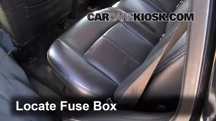 interior fuse box location 2002 2009 gmc envoy 2006 gmc envoy locate interior fuse box and remove cover
