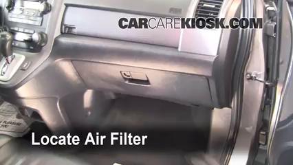 Cabin Filter Replacement: Honda CR-V 2007-2011 - 2009 ...