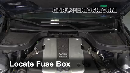 blown fuse check 2007 2012 infiniti g35 2008 infiniti g35 3 5l v6 locate engine fuse box and remove cover