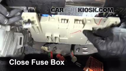 interior fuse box location 2004 2009 mazda 3 2009 mazda 3 s 2 3 secure the cover and test component