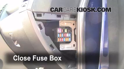 interior fuse box location 2006 2010 mazda 5 2009 mazda 5 sport 5 test component secure the cover and test component