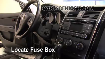 interior fuse box location mazda cx mazda cx  locate interior fuse box and remove cover