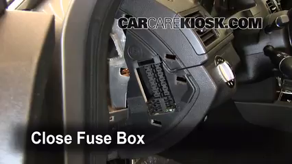 interior fuse box location 2008 2015 mercedes benz c300 2009 test component secure the cover and test component