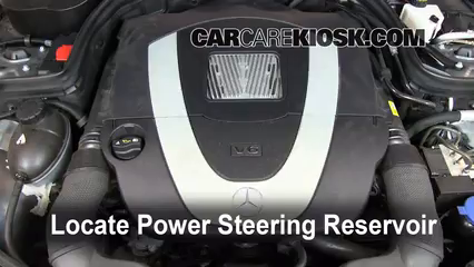 Follow these steps to add power steering fluid to a for Mercedes benz power steering fluid