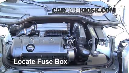 replace a fuse 2008 2015 mini cooper 2009 mini cooper clubman locate engine fuse box and remove cover