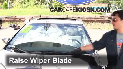 how to change wiper blades toyota corolla 2009