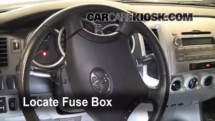interior fuse box location 2005 2015 toyota tacoma 2009 toyota interior fuse box location 2005 2015 toyota tacoma 2009 toyota tacoma pre runner 4 0l v6 crew cab pickup 4 door