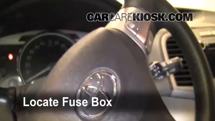 interior fuse box location 2009 2014 toyota venza 2009. Black Bedroom Furniture Sets. Home Design Ideas