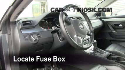 interior fuse box location 2009 2016 volkswagen cc 2009 2002 Vw Beetle Fuse Box Location locate interior fuse box and remove cover 2002 vw beetle fuse box location