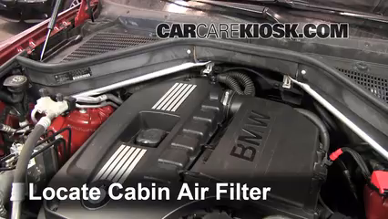bmw x cabin air filter check bmw x xdrivei 2008 2014 bmw x6 cabin air filter check