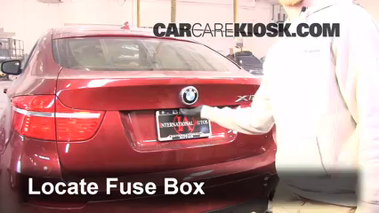 replace a fuse 2008 2014 bmw x6 2010 bmw x6 xdrive35i 3 0l 6 locate engine fuse box and remove cover