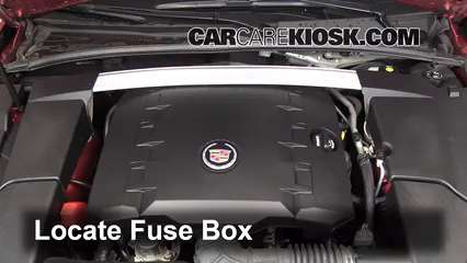 blown fuse check 2008 2015 cadillac cts 2010 cadillac cts 3 0l locate engine fuse box and remove cover