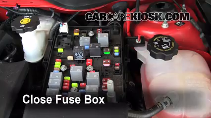 blown fuse check 2005 2010 chevrolet cobalt 2010 chevrolet 6 replace cover secure the cover and test component