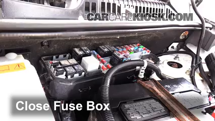 replace a fuse ford transit connect ford transit 6 replace cover secure the cover and test component