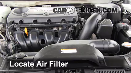 air filter how to 2010 2013 kia forte 2010 kia forte ex. Black Bedroom Furniture Sets. Home Design Ideas