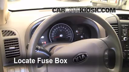 interior fuse box location 2006 2014 kia sedona 2010. Black Bedroom Furniture Sets. Home Design Ideas