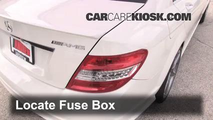 interior fuse box location 2008 2015 mercedes benz c250. Black Bedroom Furniture Sets. Home Design Ideas