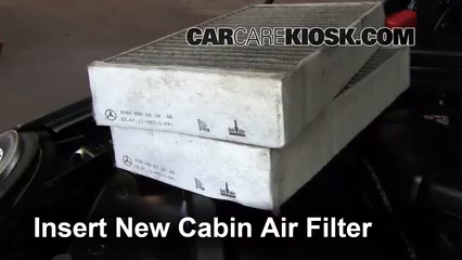 how to change the air filter in e550 2010 mercedez