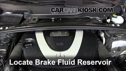 2006 2012 mercedes benz r350 brake fluid level check for Mercedes benz check coolant level
