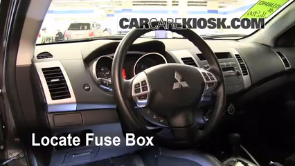 interior fuse box location 2007 2013 mitsubishi outlander. Black Bedroom Furniture Sets. Home Design Ideas