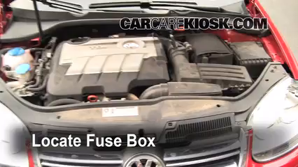 blown fuse check 2005 2014 volkswagen jetta 2010 volkswagen locate engine fuse box and remove cover