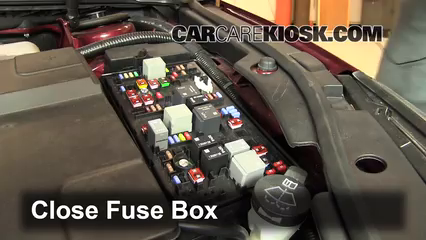 replace a fuse 2010 2016 buick lacrosse 2011 buick lacrosse cx 6 replace cover secure the cover and test component