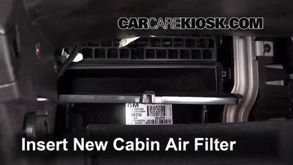 Cabin Filter Replacement: Cadillac SRX 2010-2016 - 2011 ...