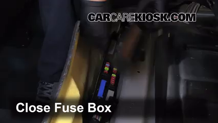 interior fuse box location   cadillac srx