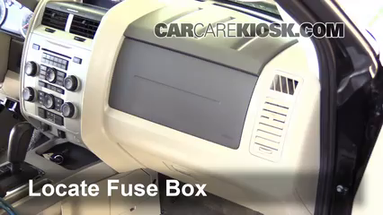 interior fuse box location 2005 2012 ford escape 2011. Black Bedroom Furniture Sets. Home Design Ideas
