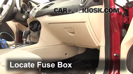 interior fuse box location 2011 2014 ford fiesta 2011. Black Bedroom Furniture Sets. Home Design Ideas