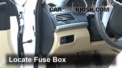 interior fuse box location 2008 2012 honda accord 2010 honda interior fuse box location 2008 2012 honda accord 2010 honda accord ex 2 4l 4 cyl coupe 2 door