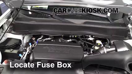 blown fuse check 2009 2015 honda pilot 2011 honda pilot ex l 3 5l v6 locate engine fuse box and remove cover